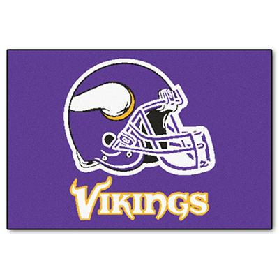 """NFL Minnesota Vikings Starter Rug - 19"""" x 30"""""""