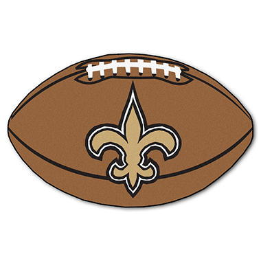 "NFL New Orleans Saints Football Rug - 22"" x 35"""