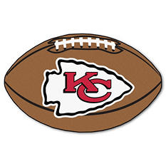 "NFL Kansas City Chiefs Football Rug - 22"" x 35"""