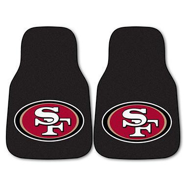 NFL San Francisco 49ers 2-Piece Carpeted Car Mats - 18