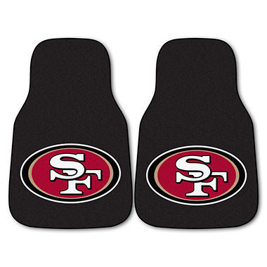 "NFL San Francisco 49ers 2-Piece Carpeted Car Mats - 18"" x 27"""