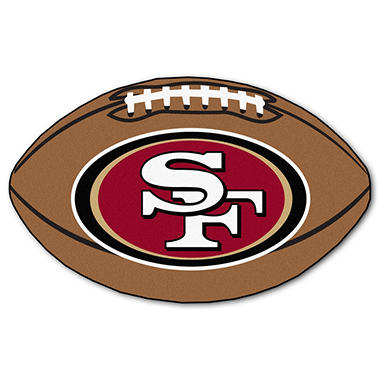 "NFL San Francisco 49ers Football Rug - 22"" x 35"""