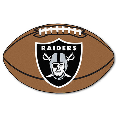 "NFL Oakland Raiders Football Rug - 22"" x 35"""