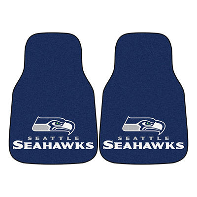 "NFL Seattle Seahawks 2-Piece Carpeted Car Mats - 18"" x 27"""