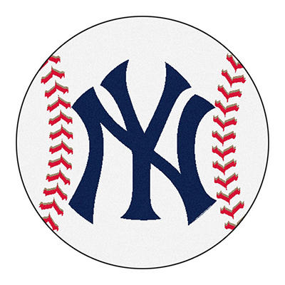 "MLB New York Yankees Baseball Mat 27"" Diameter"