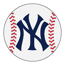 "MLB New York Yankees Baseball Mat 27"" Diameter"