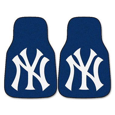 MLB New York Yankees 2-Piece Carpeted Car Mats - 18