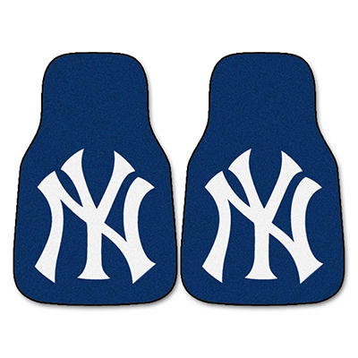 "MLB New York Yankees 2-Piece Carpeted Car Mats - 18"" x 27"""