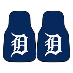 "MLB Detroit Tigers 2-Piece Carpeted Car Mats - 18"" x 27"""