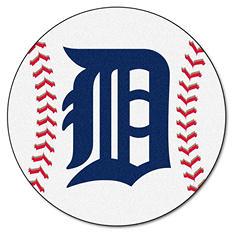 "MLB Detroit Tigers Baseball Mat - 27"" Diameter"