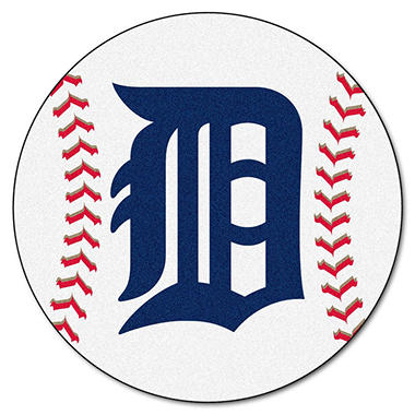 "MLB Detroit Tigers Baseball Mat - 27"" Diameter"