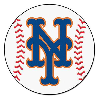 """MLB New York Mets Baseball Mat - 27"""" Diameter"""