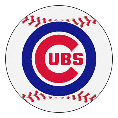 "MLB Chicago Cubs Baseball Mat 27"" Diameter"