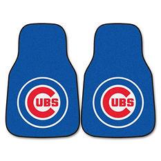 "MLB Chicago Cubs 2-Piece Carpeted Car Mats - 18"" x 27"""