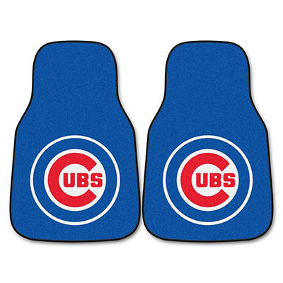 "MLB Chicago Cubs 2-Piece Carpeted Car Mats - 18"" x 27"""