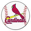 "MLB St. Louis Cardinals Baseball Mat - 27"" Diameter"