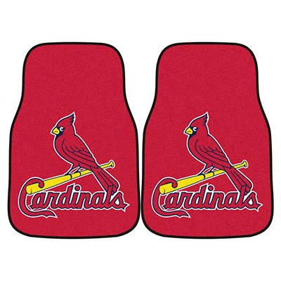 "MLB St. Louis Cardinals 2-Piece Carpeted Car Mats - 18"" x 27"""