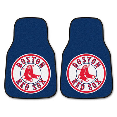 "MLB Boston Red Sox 2-Piece Carpeted Car Mats - 18"" x 27"""