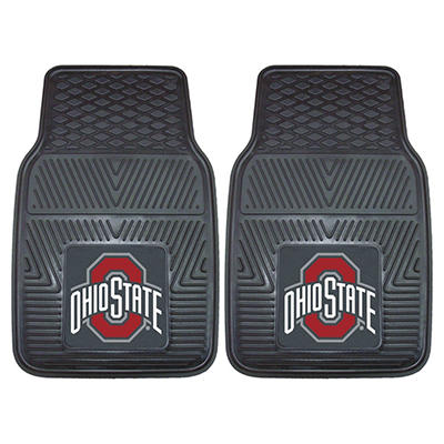 "NCAA Ohio State Heavy-Duty 2-Piece Vinyl Car Mats - 18"" x 27"""