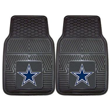 NFL Dallas Cowboys Heavy-Duty 2-Piece Vinyl Car Mats - 18