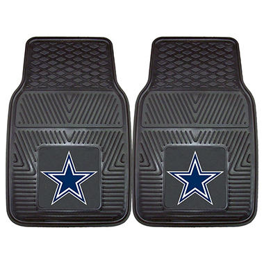 "NFL Dallas Cowboys Heavy-Duty 2-Piece Vinyl Car Mats - 18"" x 27"""