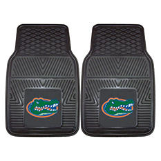 "NCAA Florida Heavy-Duty 2-Piece Vinyl Car Mats - 18"" x 27"""