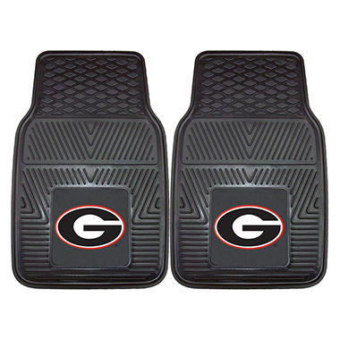 NCAA Georgia Heavy-Duty 2-Piece Vinyl Car Mats - 18