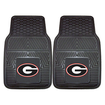 "NCAA Georgia Heavy-Duty 2-Piece Vinyl Car Mats - 18"" x 27"""