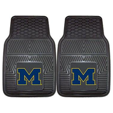 NCAA Michigan Heavy-Duty 2-Piece Vinyl Car Mats - 18