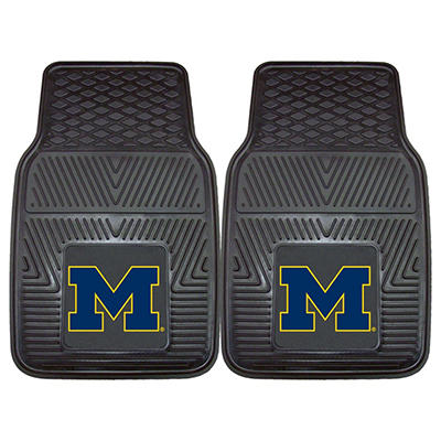 "NCAA Michigan Heavy-Duty 2-Piece Vinyl Car Mats - 18"" x 27"""