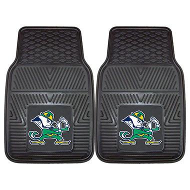 NCAA Notre Dame Heavy-Duty 2-Piece Vinyl Car Mats - 18
