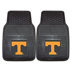 "NCAA Tennessee Heavy-Duty 2-Piece Vinyl Car Mats - 18"" x 27"""