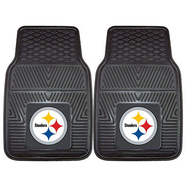 NFL Pittsburgh Steelers Heavy-Duty 2-Piece Vinyl Car Mats - 18