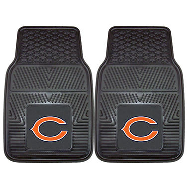 "NFL Chicago Bears Heavy-Duty 2-Piece Vinyl Car Mats - 18"" x 27"""
