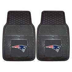 "NFL New England Patriots Heavy-Duty 2-Piece Vinyl Car Mats - 18"" x 27"""