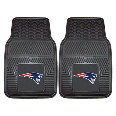 NFL New England Patriots Heavy-Duty 2-Piece Vinyl Car Mats - 18