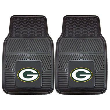 NFL Green Bay Packers Heavy Duty 2-Piece Vinyl Car Mats 18