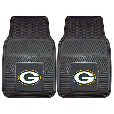 NFL Green Bay Packers Heavy Duty 2-Piece Vinyl Car Mats 18