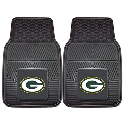 "NFL Green Bay Packers Heavy Duty 2-Piece Vinyl Car Mats 18"" x 27"""