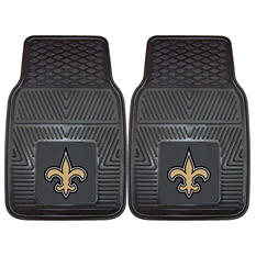 "NFL New Orleans Saints Heavy Duty 2-Piece Vinyl Car Mats 18"" x 27"""