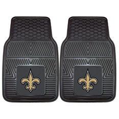 """NFL New Orleans Saints Heavy Duty 2-Piece Vinyl Car Mats 18"""" x 27"""""""