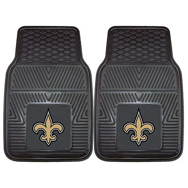 NFL New Orleans Saints Heavy Duty 2-Piece Vinyl Car Mats 18