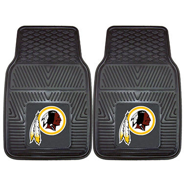 NFL Washington Redskins Heavy-Duty 2-Piece Vinyl Car Mats - 18