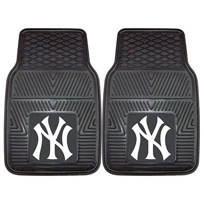 "MLB New York Yankees Heavy-Duty 2-Piece Vinyl Car Mats - 18"" x 27"""