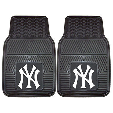 MLB New York Yankees Heavy-Duty 2-Piece Vinyl Car Mats - 18