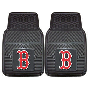 "MLB Boston Red Sox Heavy Duty 2-Piece Vinyl Car Mats - 18"" x 27"""