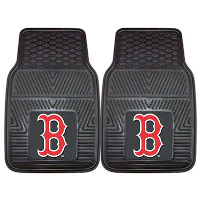 "MLB Boston Red Sox Heavy Duty 2-Piece Vinyl Car Mats - 18"" x 27"""