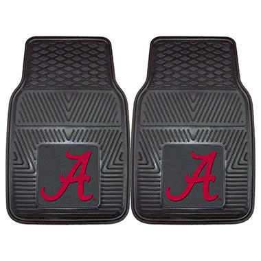 "NCAA Alabama Heavy-Duty 2-Piece Vinyl Car Mats - 18"" x 27"""