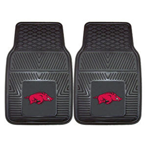 "NCAA Arkansas Heavy-Duty 2-Piece Vinyl Car Mats - 18"" x 27"""