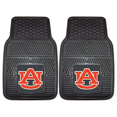 NCAA Auburn Heavy-Duty 2-Piece Vinyl Car Mats - 18